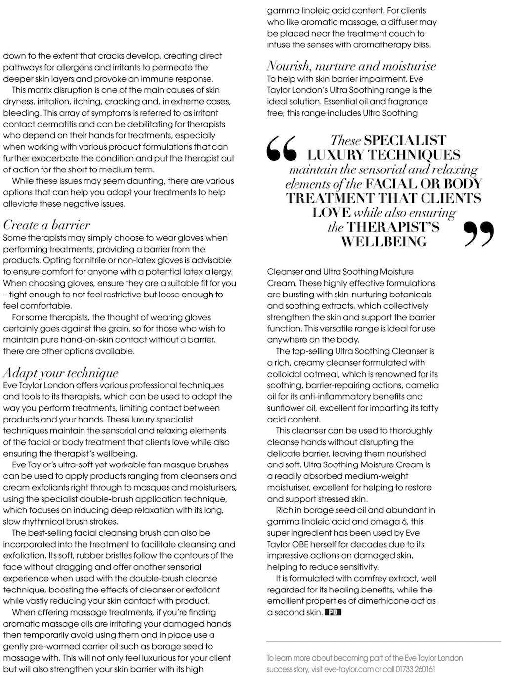 Eve Taylor beauty magazine